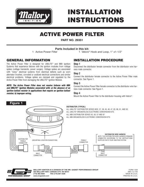 small resolution of mallory unilite ignition box wiring diagram