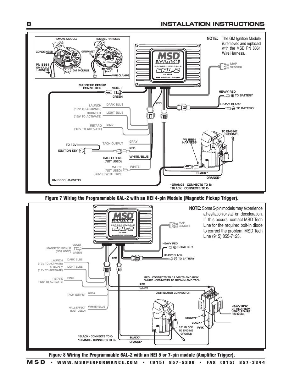 hight resolution of msd 6al box 6425 wiring diagram