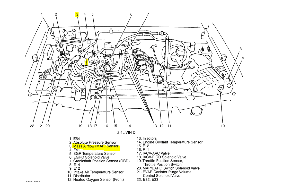 Nissan Xterra 2003 Mass Air Flow Sensor Wiring Diagram