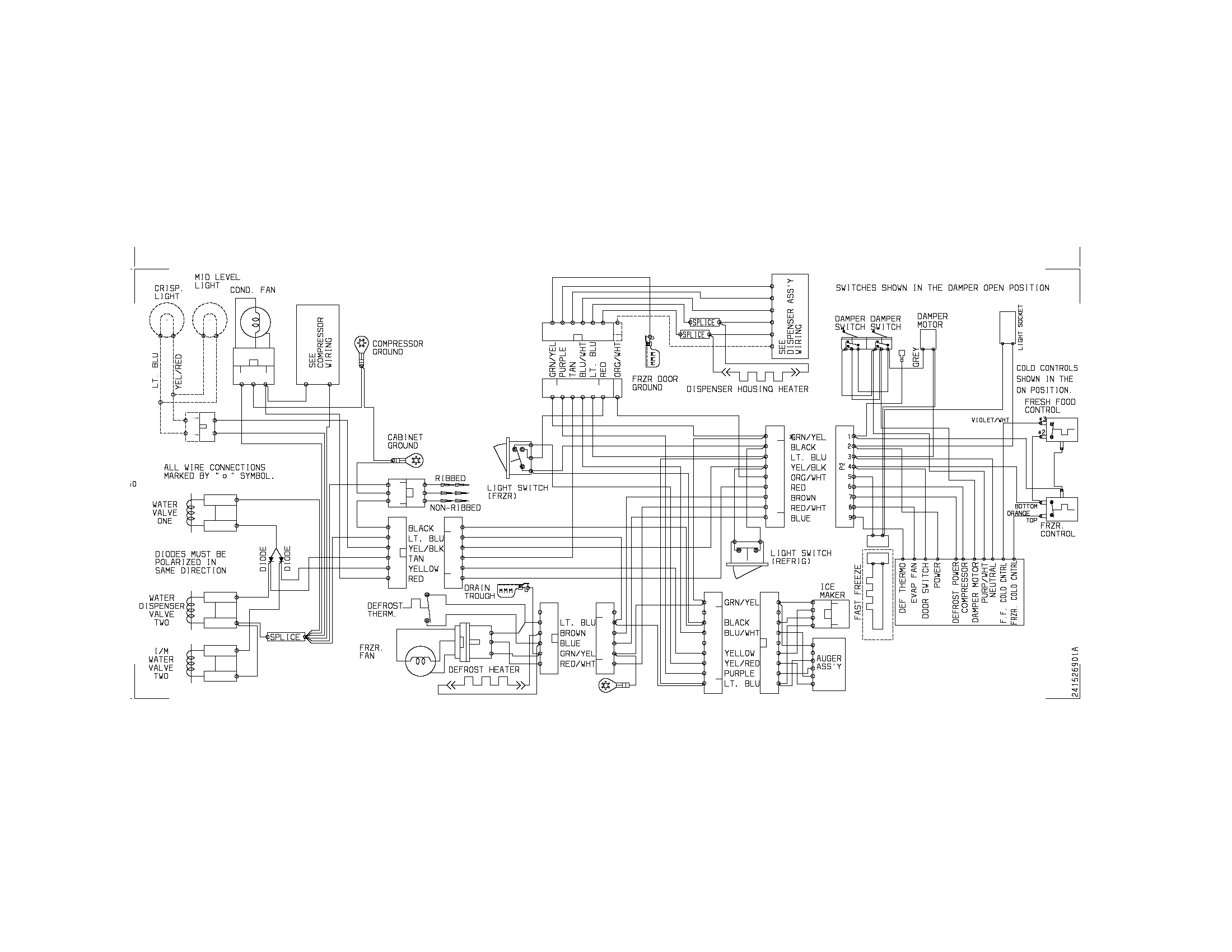 Freezer Wiring Schematic Sears 106