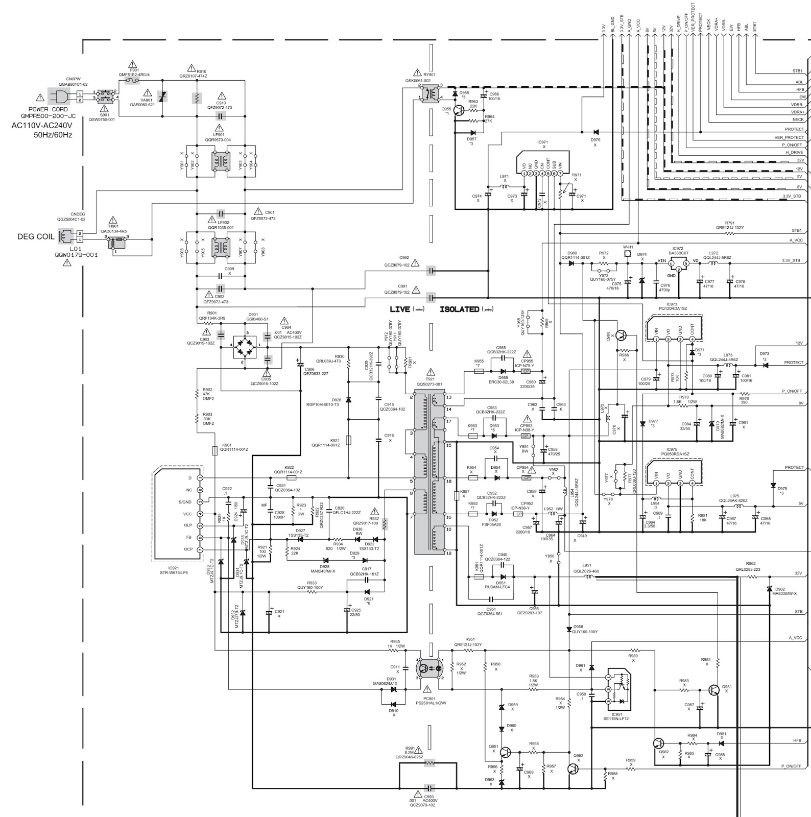 Panasonic C7203u Wiring Diagram