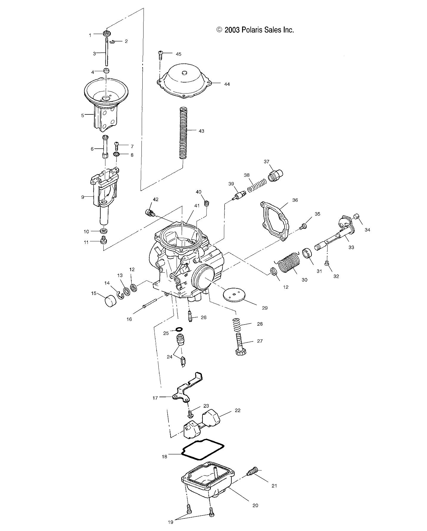 Polaris 250 Trail Boss Carburetor Diagram