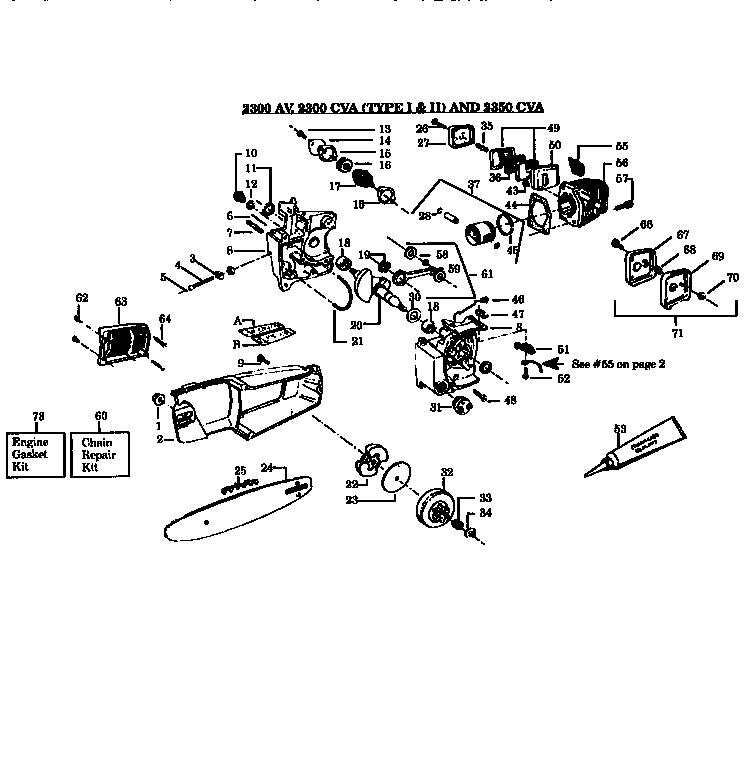 Poulan 2055 Chainsaw Fuel Line Diagram