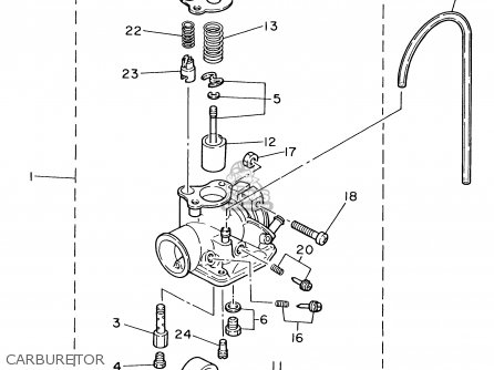 Pw80 Carburetor Hose Diagram