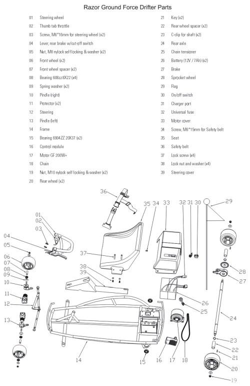 small resolution of dirt bike razor mx350 battery wiring diagram