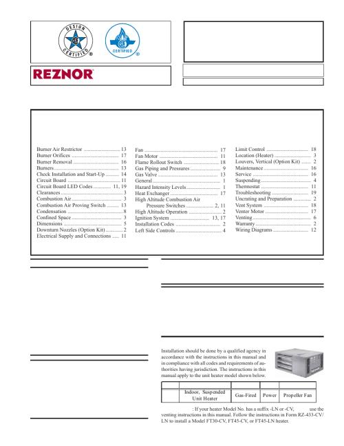 small resolution of reznor wiring schematic