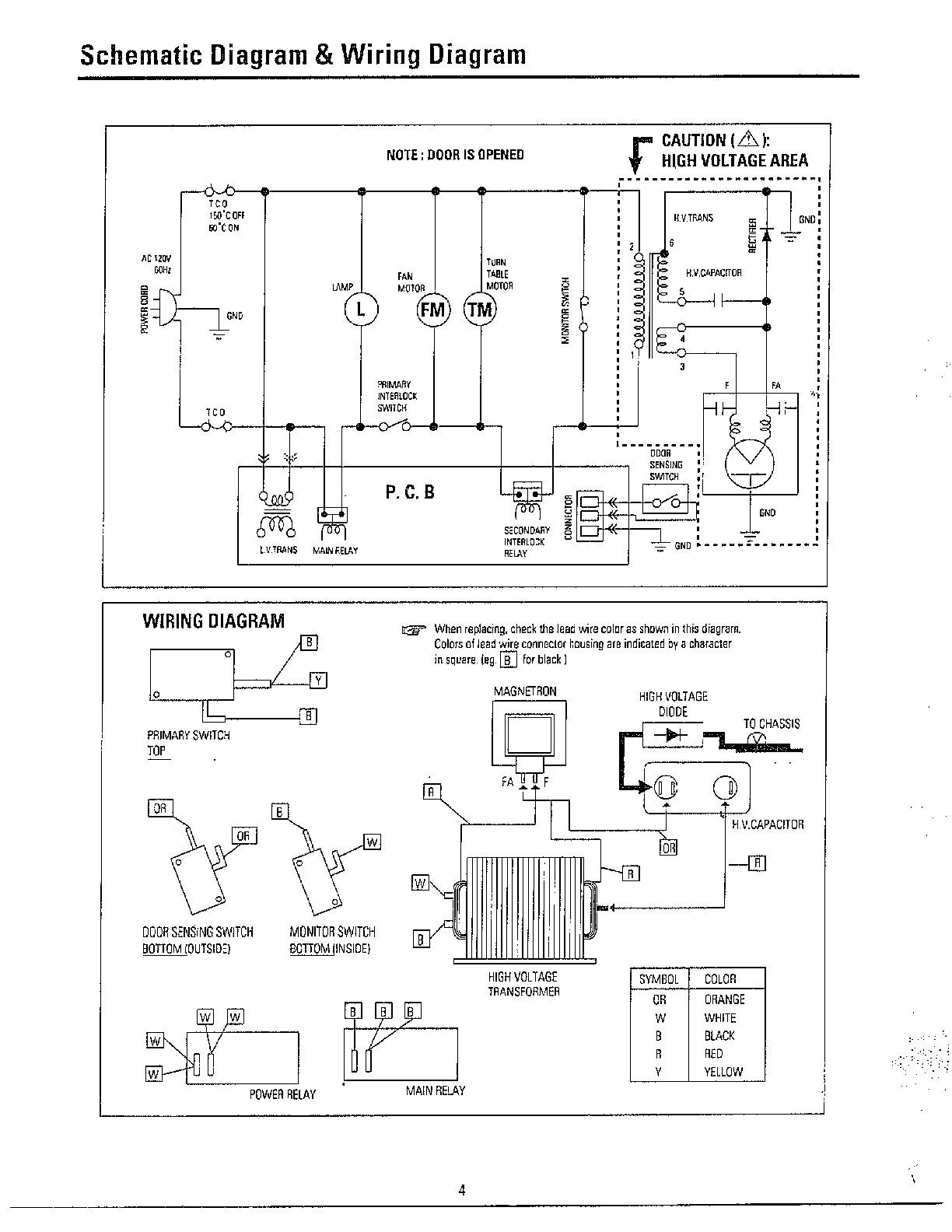 hight resolution of basic microwave part diagram
