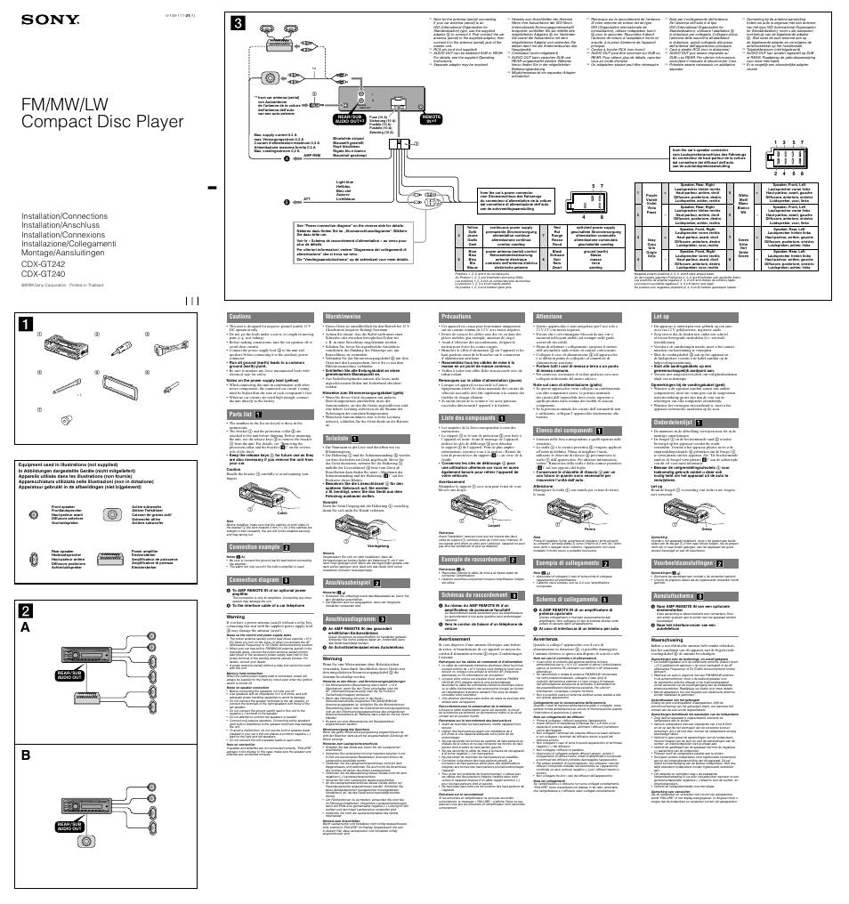 medium resolution of sony cdx gt240 wiring diagram