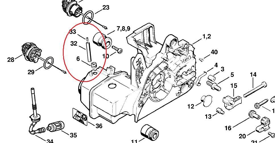 Stihl 025 Diagram