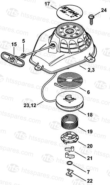 Stihl Hs56c Parts Diagram