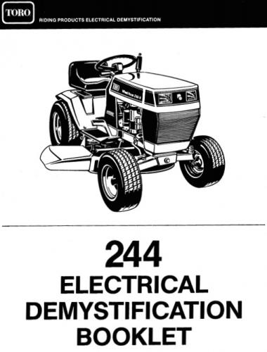 Toro Wheel Horse 244 H Wiring Diagram