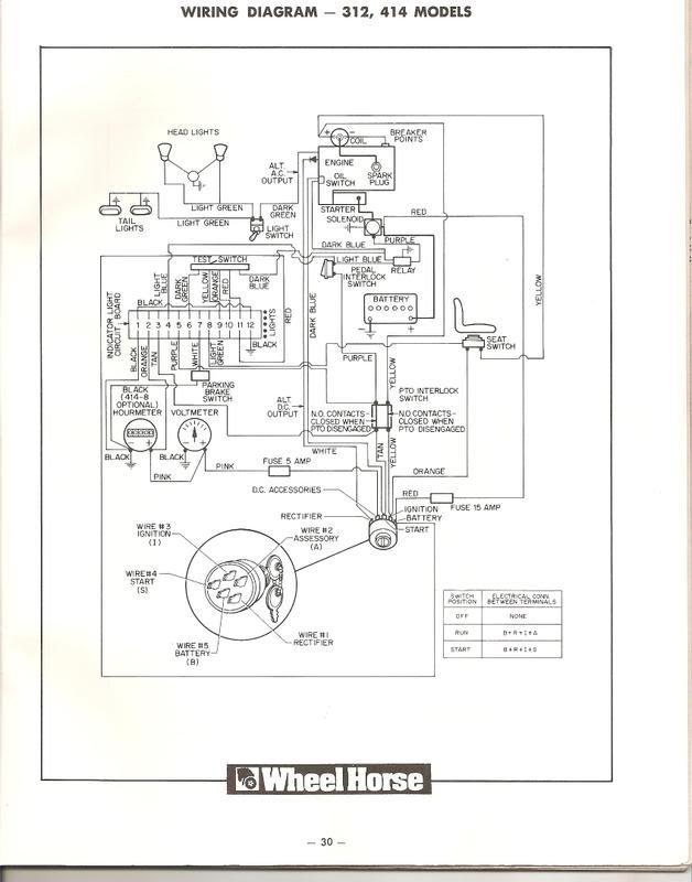 Toro Wheel Horse 520h Wiring Diagram