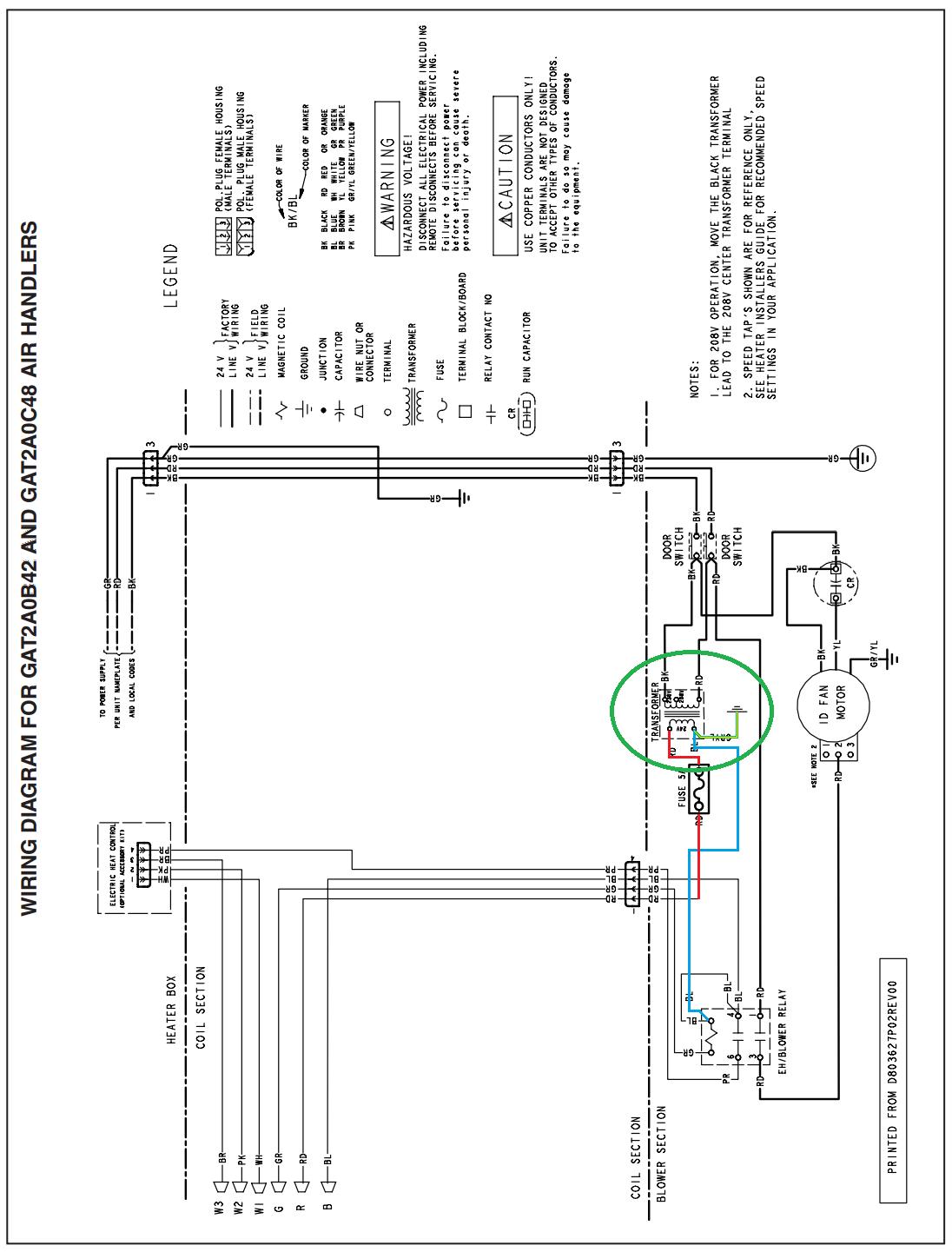 Trane 4tee3f49b1000aa Wiring Diagram