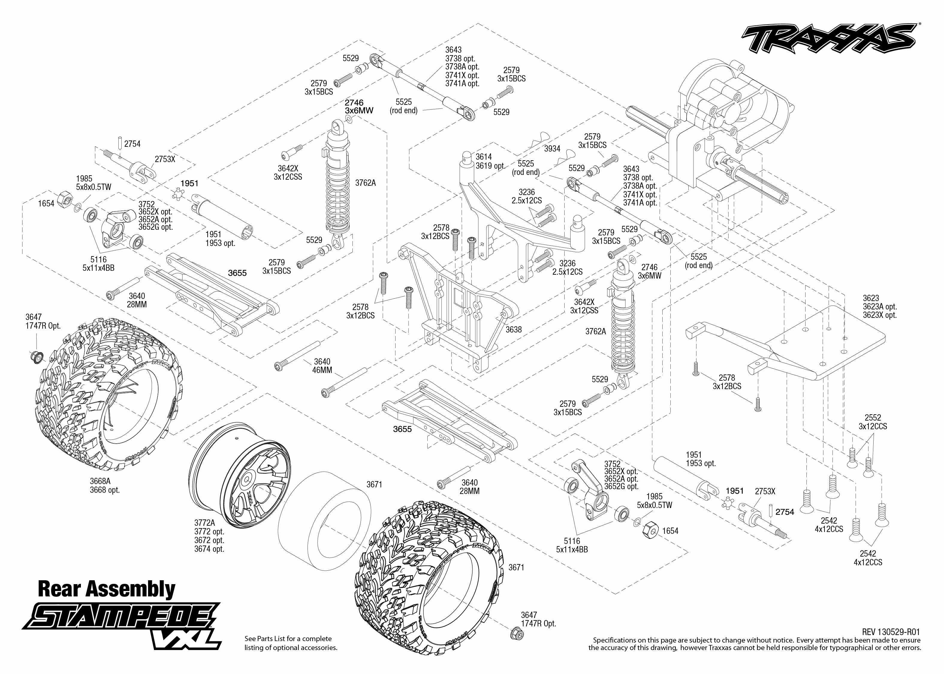 Traxxas Slash 2wd Diagram