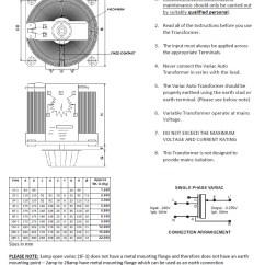 Auto Transformer Wiring Diagram Trailer Marker Lights Variac