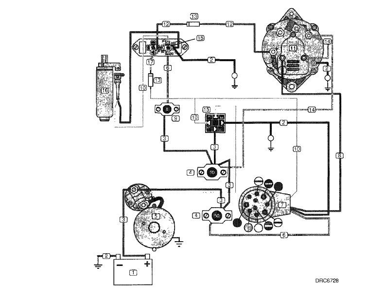 Volvo Penta Fuel Pump Wiring Diagram 4.3 Relays Part No.