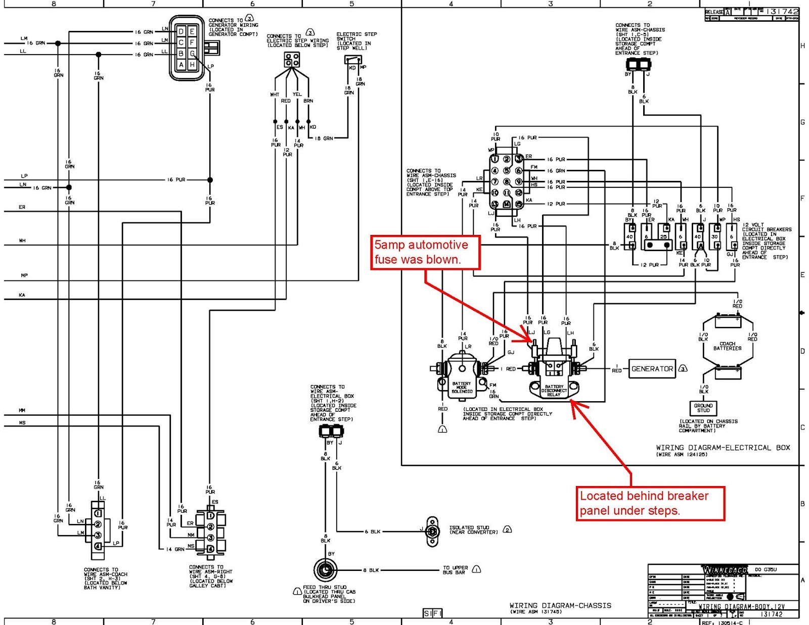 Winnebago Sightseer 12 Volt Wiring Diagram