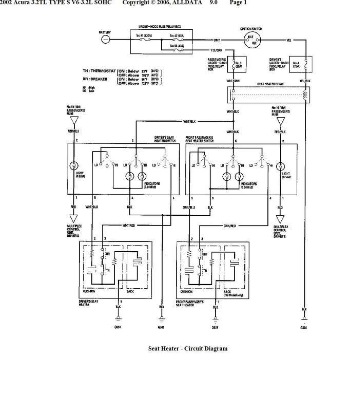 Wiring Diagram 3004 Acura Tl Seat