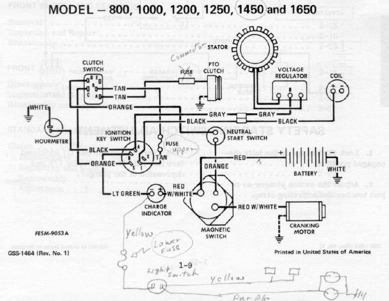 Wiring Diagram Cub Cadet Xt1