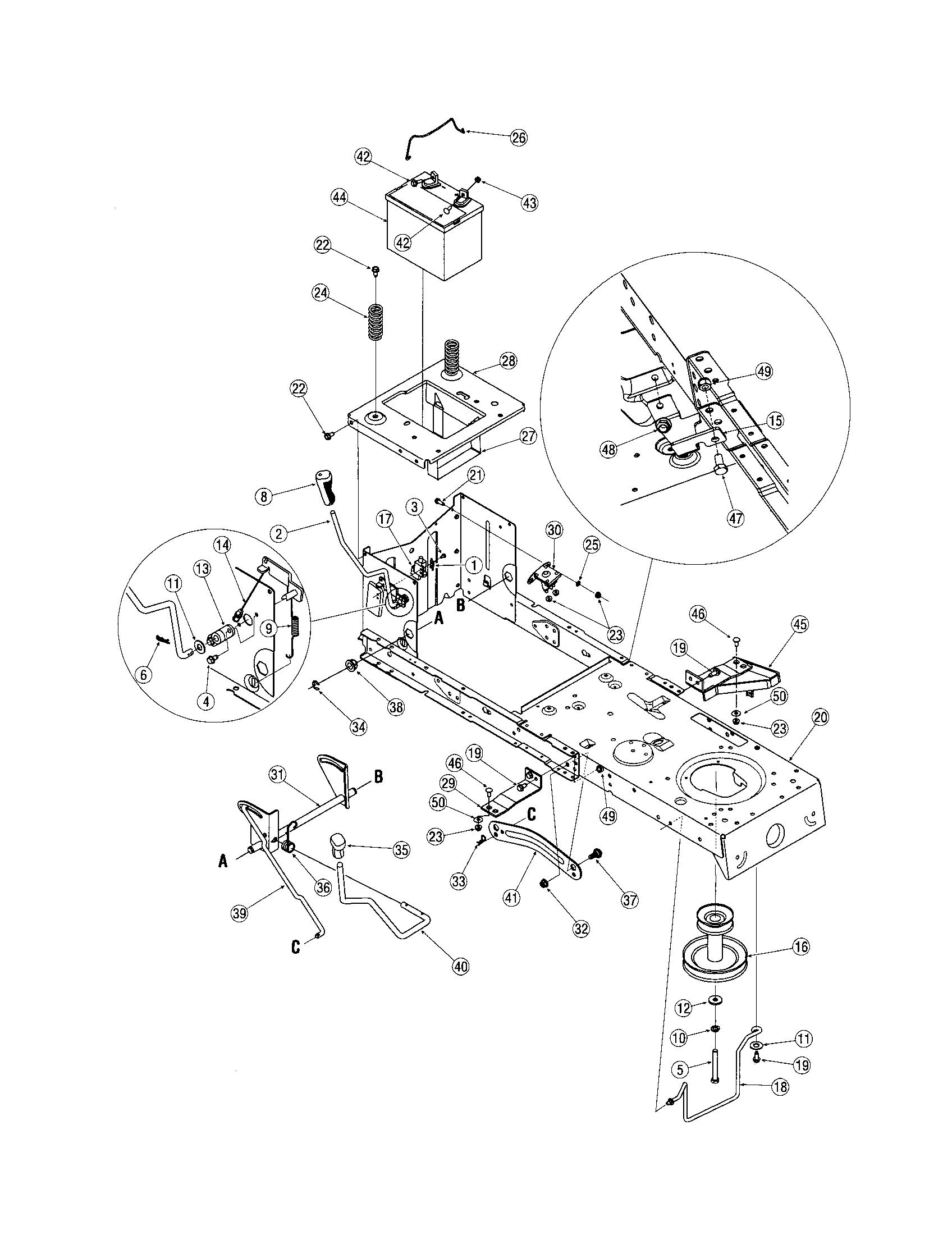 hight resolution of troy bilt riding mower wiring diagram