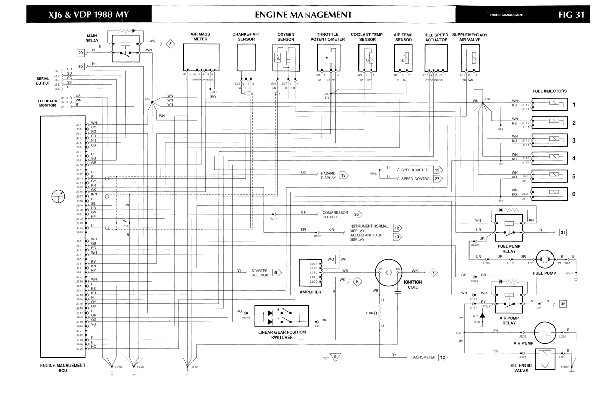 jaguar xj6 electrical diagram