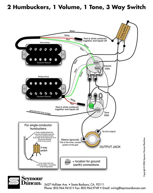 small resolution of wiring diagram for 2 humbucker guitar with 3 way import lever switch 1 volume 1 tone