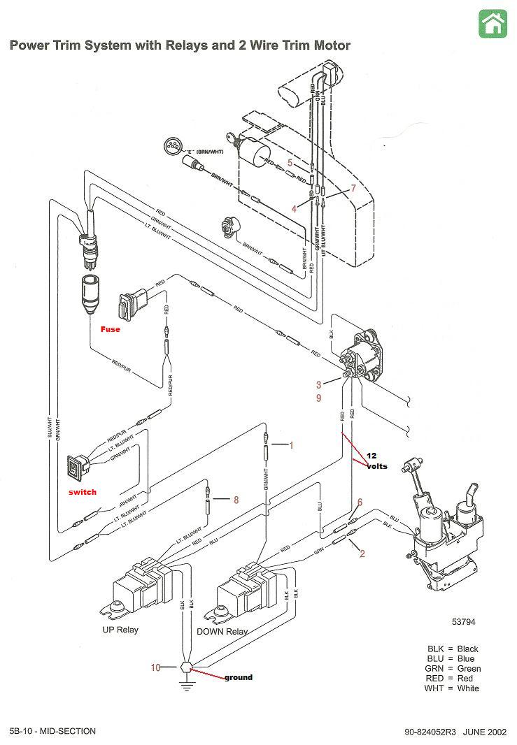 Wiring Diagram For A 190 Mercruiser Trim Double Solenoid