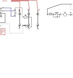 wiring diagram for a starter controlling a 480v motor with 120v start stop button [ 1609 x 1500 Pixel ]