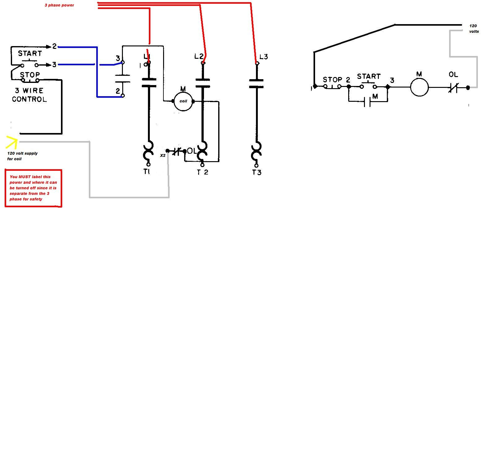 hight resolution of wiring diagram for a starter controlling a 480v motor with 120v start stop button