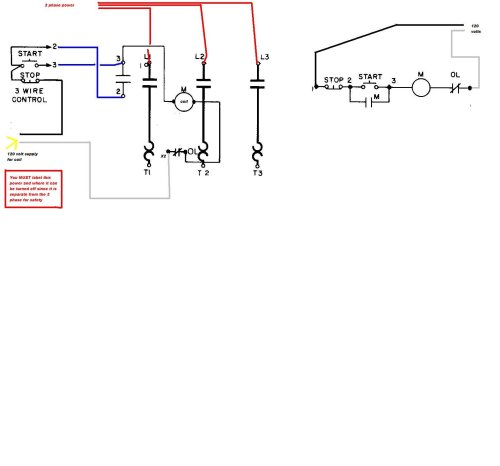small resolution of wiring diagram for a starter controlling a 480v motor with 120v start stop button