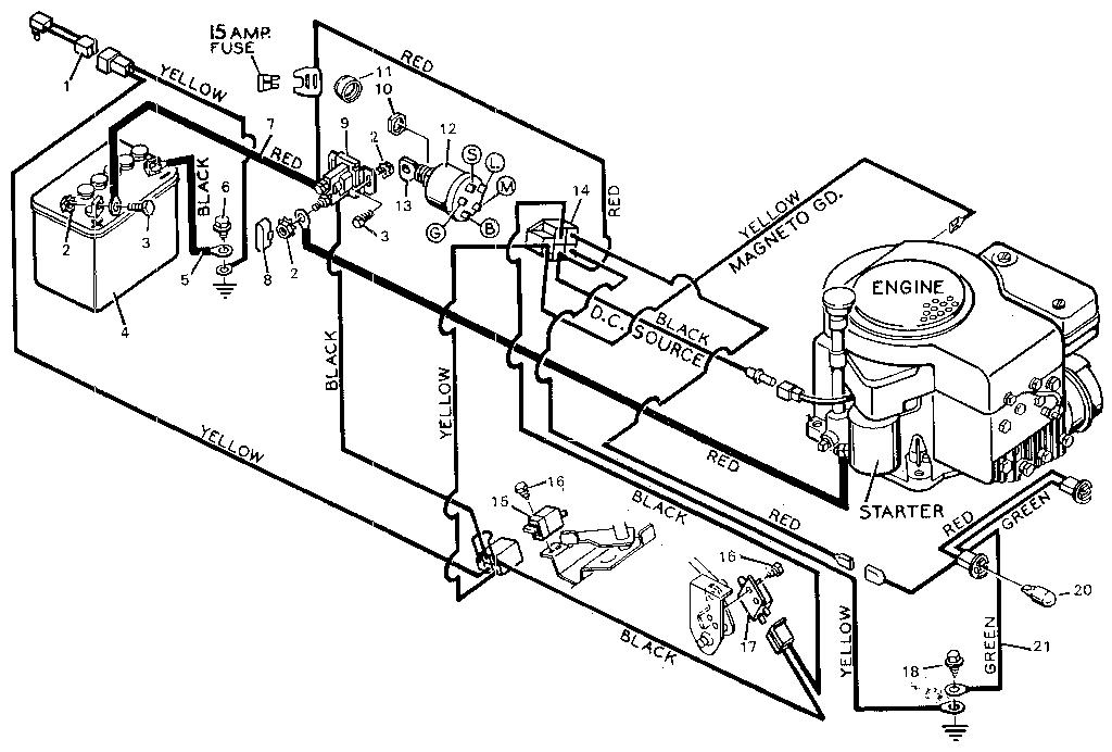 Wiring Diagram For An Intek V-twin 20 Horsepower Motor