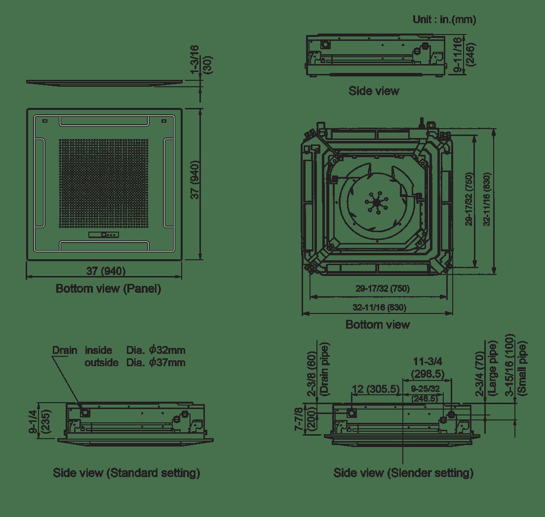 hight resolution of ductles mini split diagram