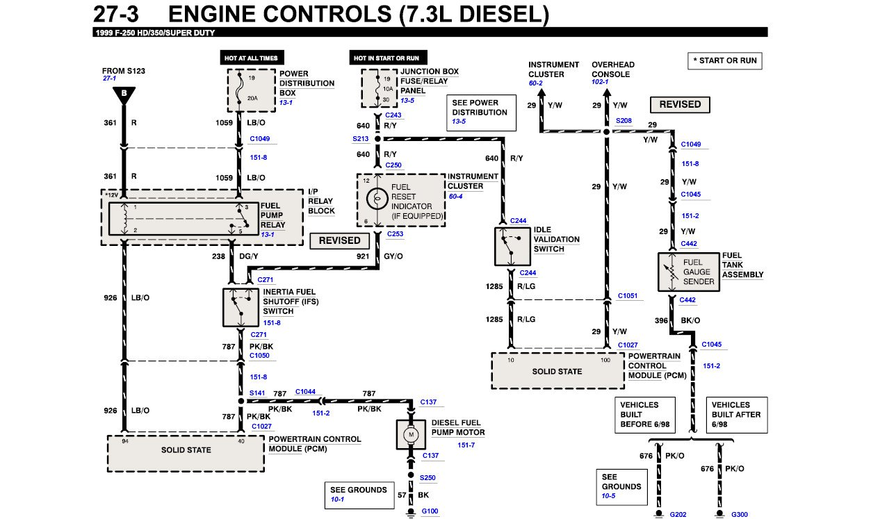 Wiring Diagram For The Primer Pump7.3l F350 2000