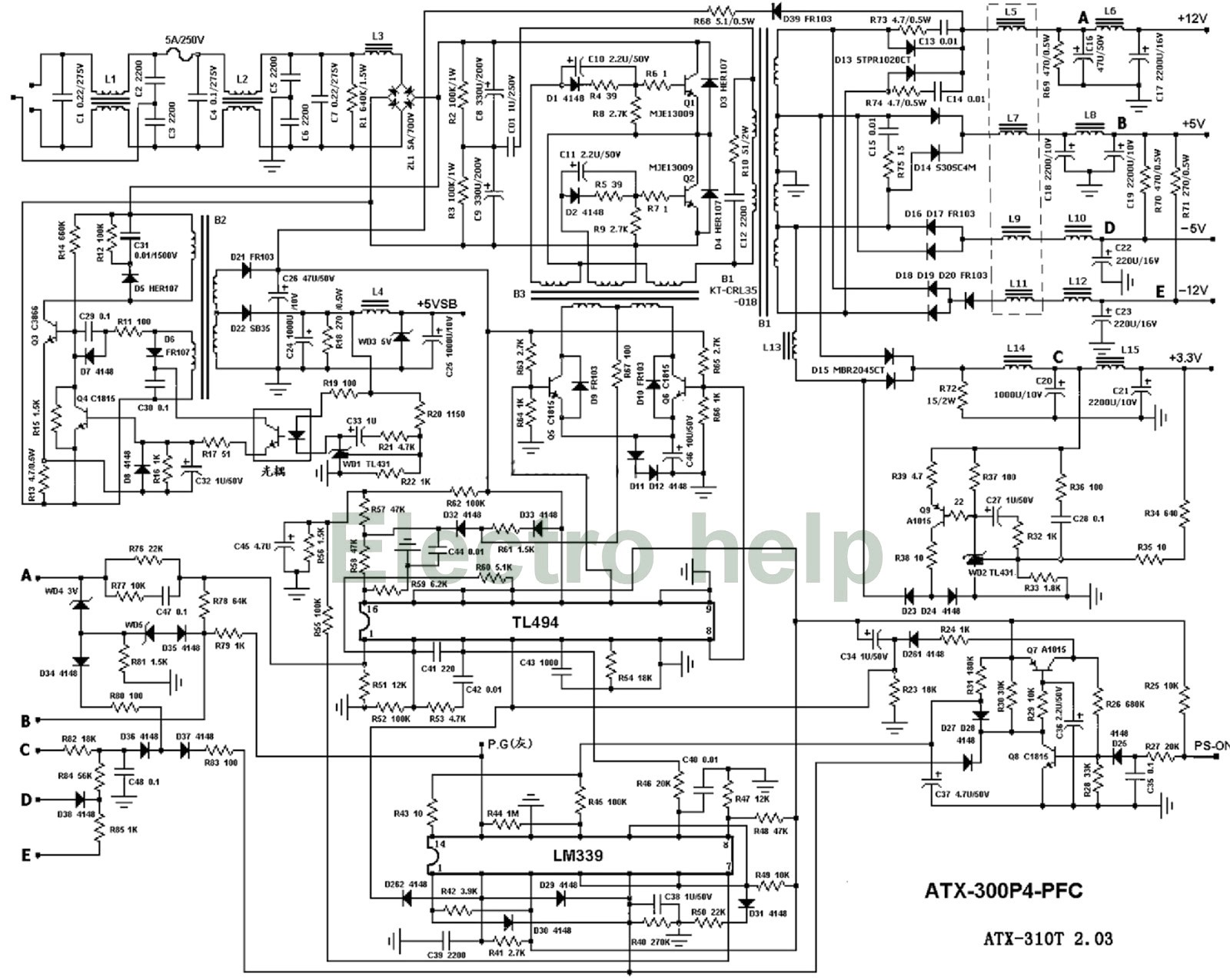 Wiring Diagram On Hpe-210y Pc