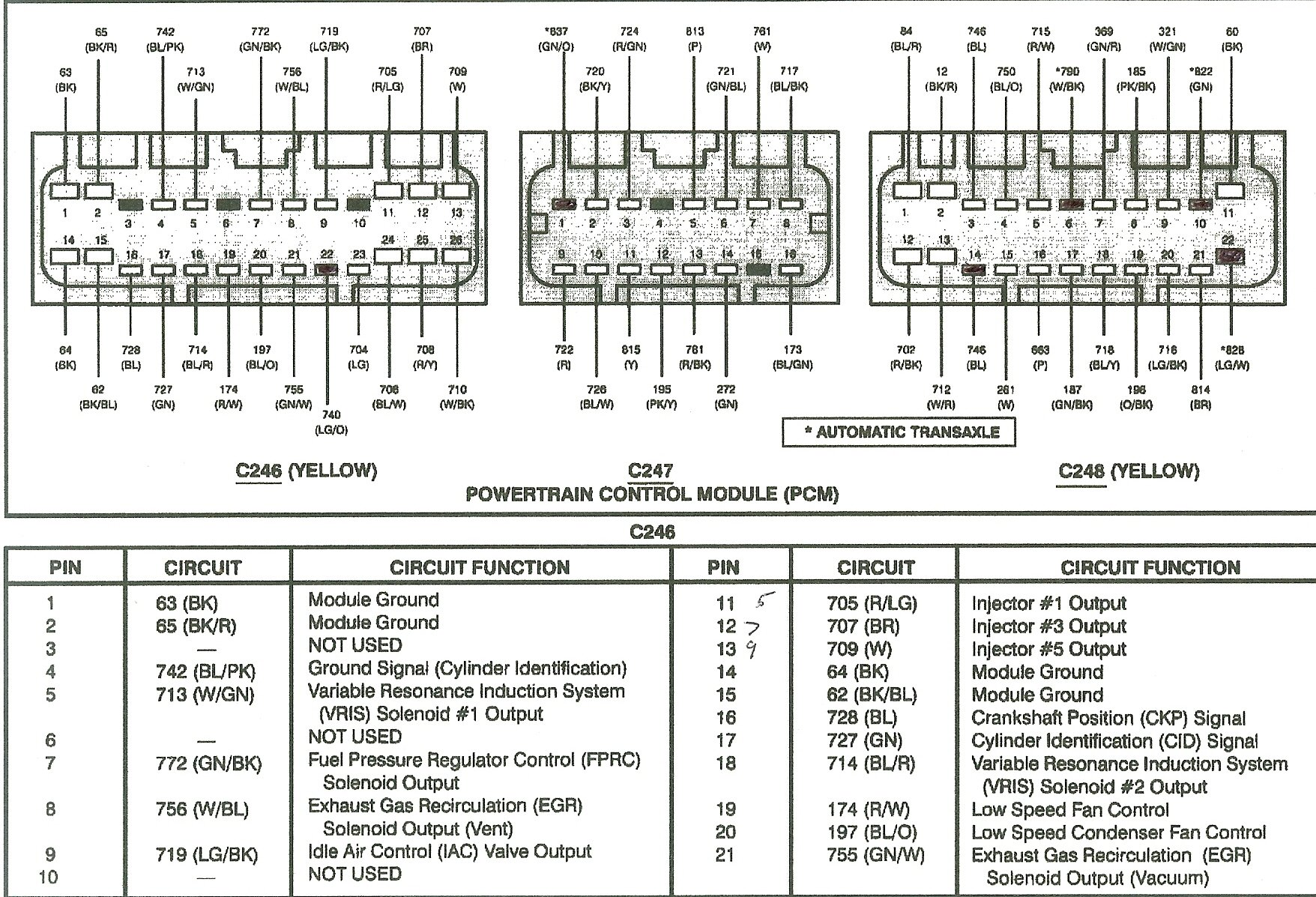 Wiring Diagram Pcm 252a Ford 6.0