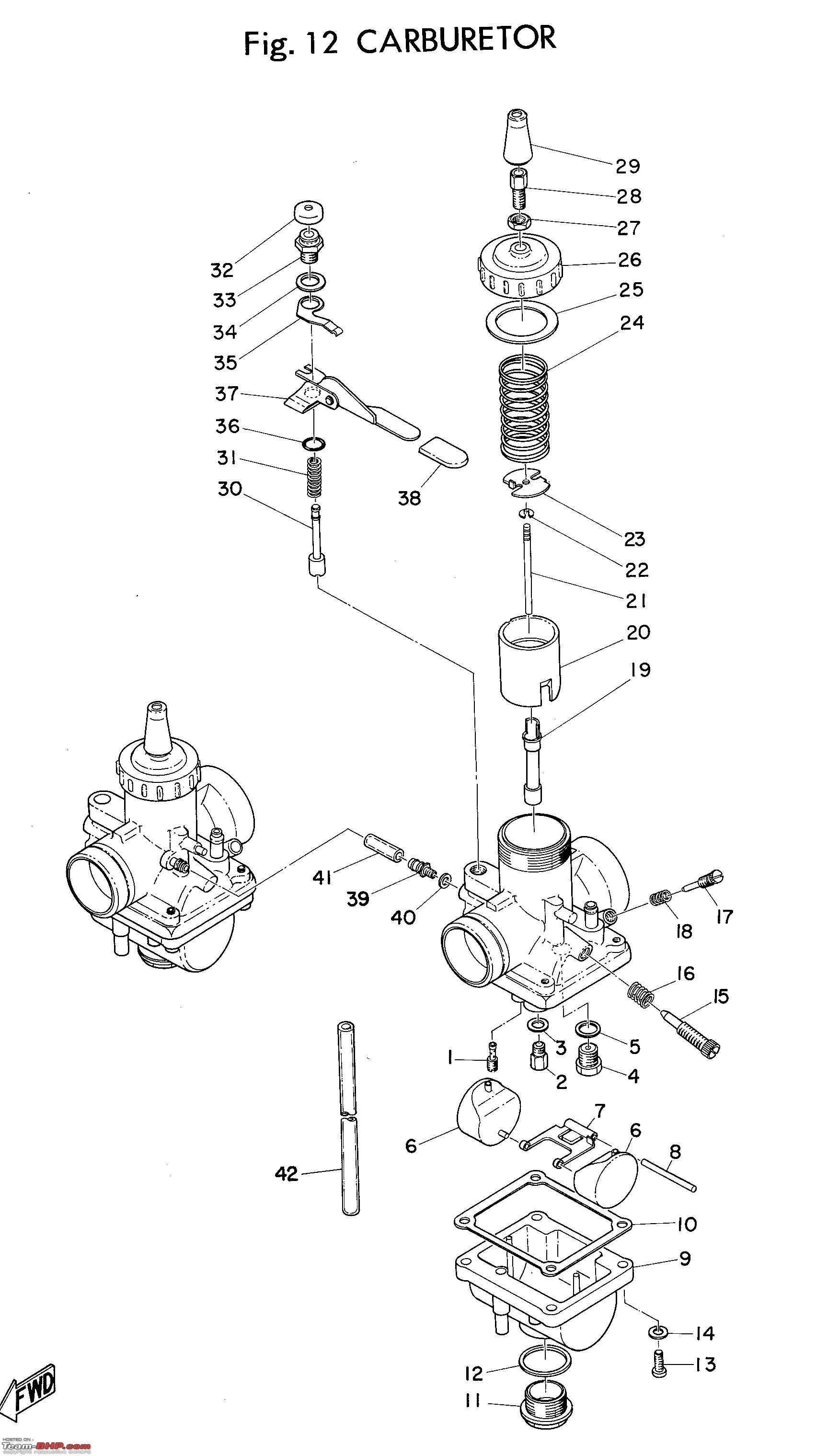 Yamaha 350 Warrior Carburetor Diagram