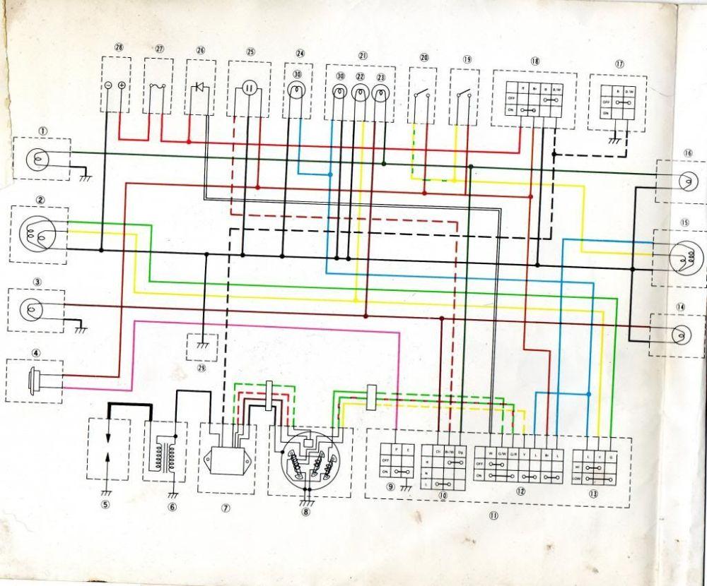 medium resolution of wire schematic yamaha enduro