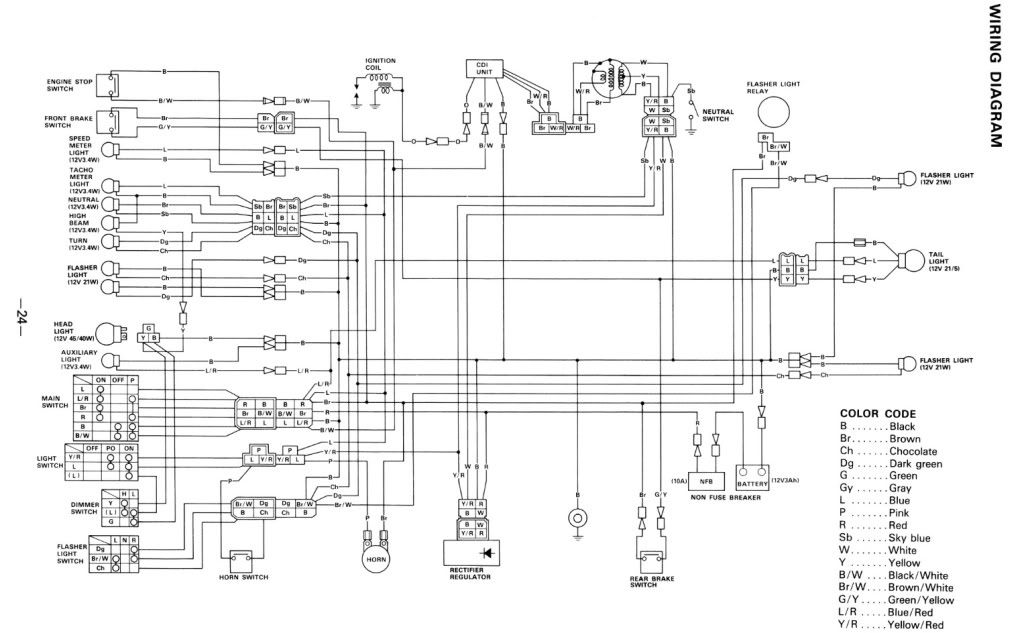 Yamaha Xt350 Wiring Diagram