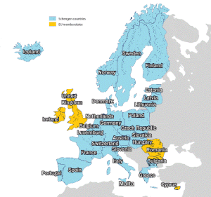 Schengen Area Countries - Schengen Area Map