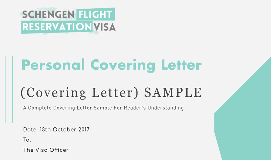 personal covering letter guide and samples for visa application process - Sample Of Cover Letter For Visa Application