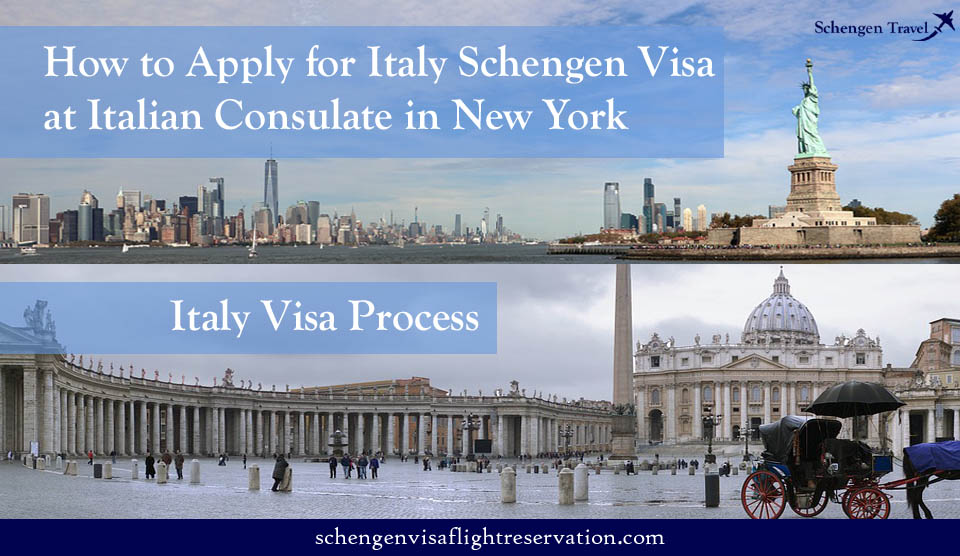 Apply for Italy Schengen Visa at Italian Consulate in New York (NYC)