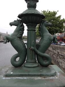 Half fish, half horse: Seahorse; Guarding the bridge over the Liffey