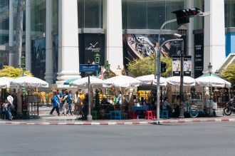The Shrine in front of the Grand Hyatt Erawan Hotel
