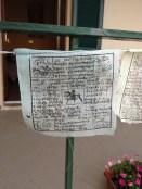 White prayer flag