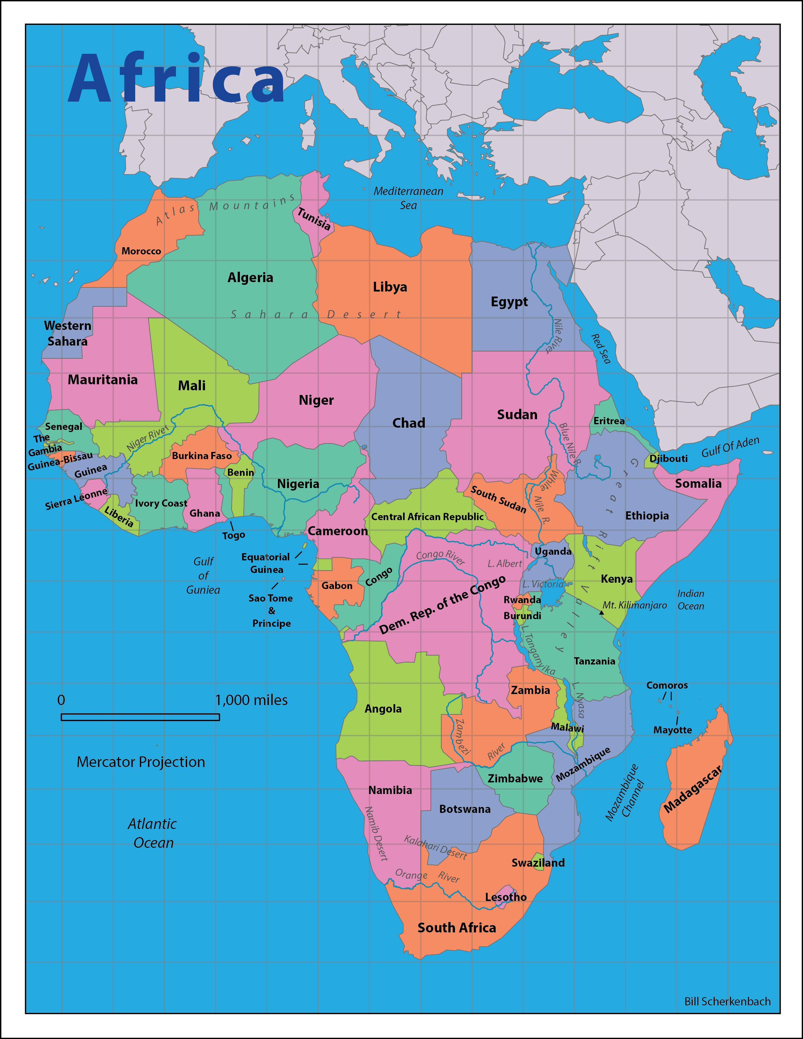 Africa Reference Map