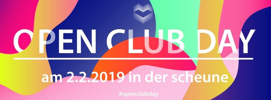 Open Club Day am 2.2.2019 in der scheune