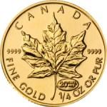buy gold fractional coins - Canadian Maple Leaf