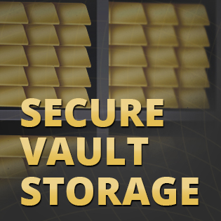 secure vault storage for gold and silver
