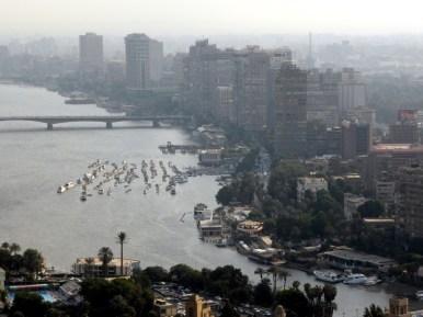 Der Nil vom Kairotower aus