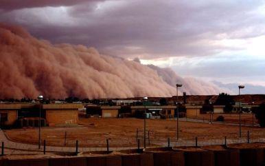 Der Sandsturm im Anmarsch